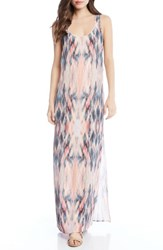 Karen Kane Side Slit Maxi Dress Print
