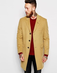 Ted Baker Cashmere Wool Mix Overcoat Camel