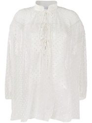 Iro Dotted Oversized Shirt White