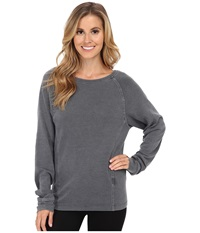 Ugg Enid Raglan Sleeve Pullover Black Bear Women's Long Sleeve Pullover