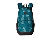 Hurley Renegade Printed Backpack Rio Teal Volt White Black Backpack Bags Green