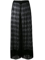 Missoni Sheer Cover Up Trousers Women Viscose 40 Black