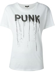 R 13 R13 Punk Print T Shirt Nude And Neutrals