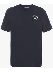 J.W.Anderson Jw Anderson Embroidered Logo T Shirt Blue