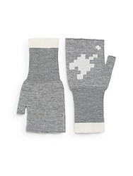 Band Of Outsiders Fingerless Wool Gloves Heather Grey