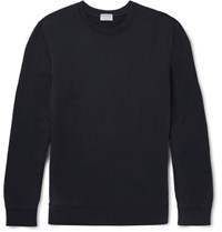 Frame Loopback Cotton Jersey Sweatshirt Navy