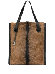 Roberto Cavalli Shopping Tote Brown
