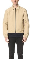 Patrik Ervell Paper Finish Coated Drop Shoulder Jacket Khaki