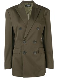 Dsquared2 Double Breasted Blazer Green