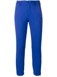 Dondup Skinny Cropped Trousers Blue