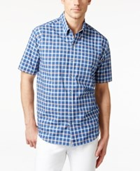 Cutter And Buck Men's Horizon Plaid Short Sleeve Shirt Multi