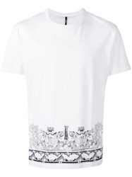 Versus Printed T Shirt White