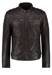 Gipsy Riley Leather Jacket Schoko Dark Brown