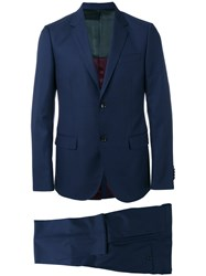 Gucci Two Piece Suit Men Polyamide Spandex Elastane Cupro Wool 54 Blue