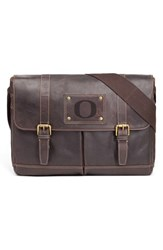 Men's Jack Mason Brand 'Gridiron Oregon Ducks' Leather Messenger Bag