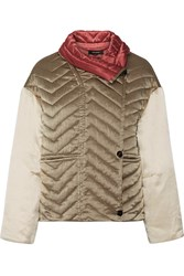 Isabel Marant Hector Padded Silk Shell Jacket Beige