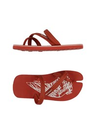 Neil Barrett Footwear Thong Sandals Women Brick Red