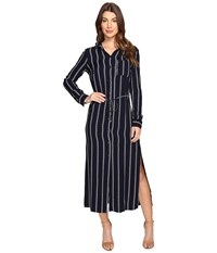 Splendid Rope Print Maxi Dress Navy Women's Dress