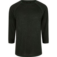 River Island Dark Green Raglan Sleeve Slim Fit T Shirt