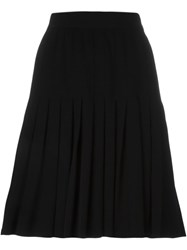 Celine Vintage Pleated Skirt Black