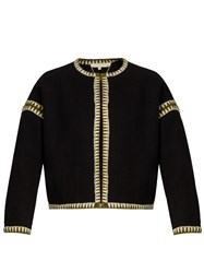 Vanessa Bruno Faida Zigzag Embroidered Jacket Black