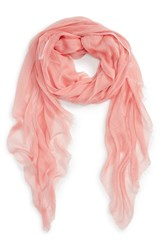 Women's Nordstrom Modal Silk Blend Scarf Coral Coral Spice Combo