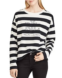 Ralph Lauren Striped Logo Sweatshirt Winter Cream