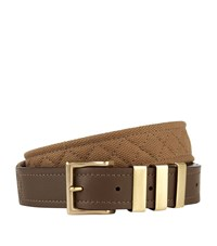 Balmain Quilted Canvas Belt Unisex Brown