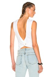 Alexander Wang T By Twist Back Tee In White