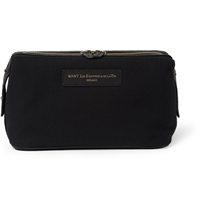 Want Les Essentiels Kenyatta Organic Cotton Canvas Wash Bag Black