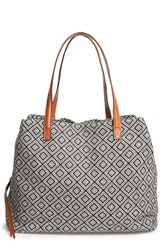 Sole Society 'Oversize Millie' Geo Print Tote