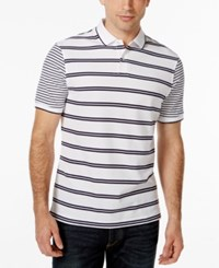 Club Room Short Sleeve Stripe Polo Only At Macy's Bright White