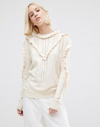 Warehouse Frill Jumper Cream