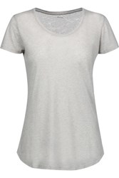 Majestic Cotton And Cashmere Blend T Shirt Light Gray