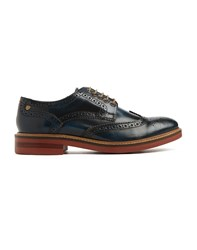 Base London Woburn Brogue Shoes Blue