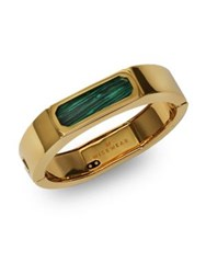 Wisewear Duchess Malachite Palladium Plated Smart Bracelet Gold Green
