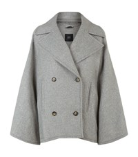 Set Flared Sleeve Pea Coat Female Grey