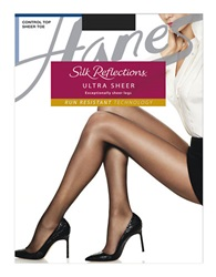 Hanes Silk Reflections Ultra Sheer Tights With Control Top Brown
