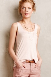 Pure Good Charmeuse Pocket Tank Peach