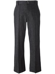 Marc Jacobs Cropped 'Bowie' Trousers Black