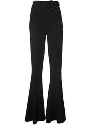 Cushnie Et Ochs Extra Long Flared Trousers Black