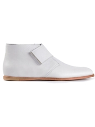 Opening Ceremony Velcro Strap Ankle Boots Grey