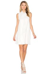 Bcbgeneration Tie Neck Dress White