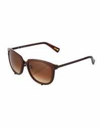 Lanvin Square Plastic Sunglasses Brown
