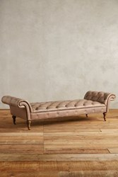 Anthropologie Leather Olivette Daybed Taupe