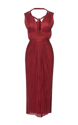 Maria Lucia Hohan Dita Tulle V Neck Dress Red