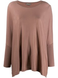 N.Peal Lightweight Cashmere Poncho Brown