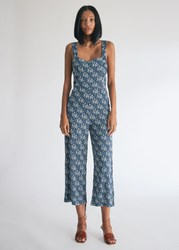 Farrow Chantal Floral Jumpsuit In Navy Size Small