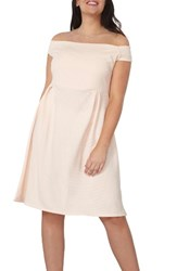 Dorothy Perkins Plus Size Women's Bardot Fit And Flare Dress Pink
