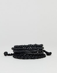 Burton Menswear Beaded Braclets In Black
